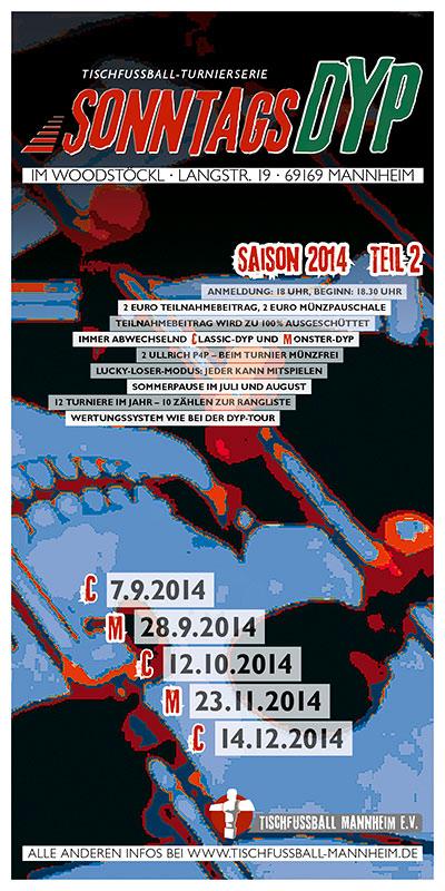 Sonntags-DYP: Saison 2014, Teil 2