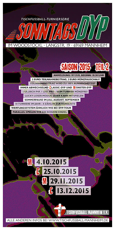 Sonntags-DYP, Turnierserie 2015