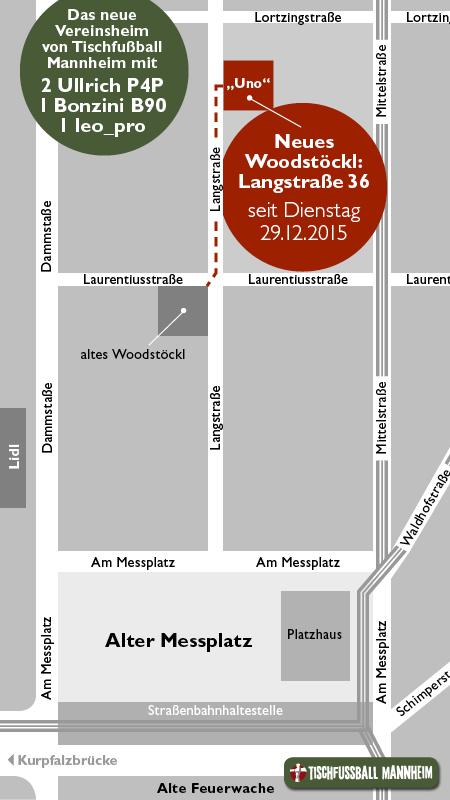 Das Woodst�ckl, unser Vereinsheim, ist umgezogen und ab sofort in der Langstra�e 36 zu finden. Dort sind wir seit dem 29.12.2015 mit unseren vier Tischen zu finden.